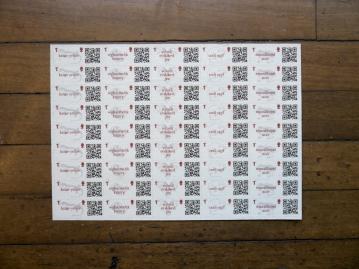 endangeRED Stamp Sheet