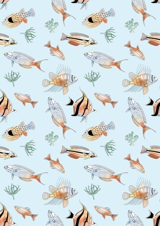 Fish Repeat Print