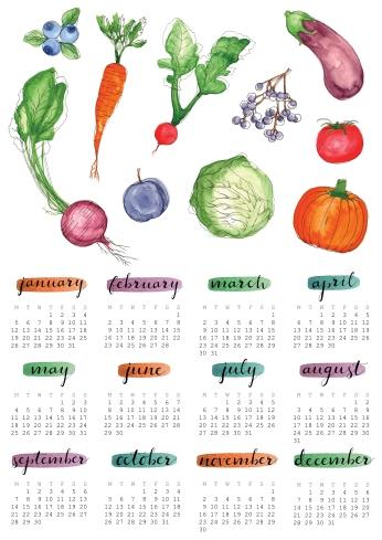 2015 Fruit & Veg Calendar