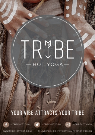 Tribe Hot Yoga A5 Flyer with Slogan Print Ready