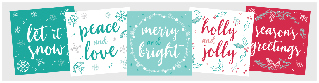 Christmas Cards 2017 Set