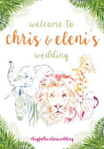 Eleni and Chris Wedding Print Outs